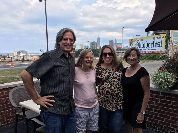 The FreshWater team at The Harp: Bob Perkoski, Karin Connelly Rice, Jen Jones Donatelli, and Tammy Wise