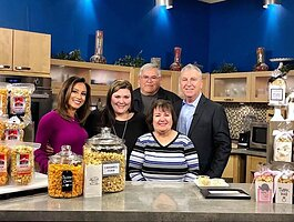 The Cleveland Caramel Corn Co. crew on New Day Cleveland.