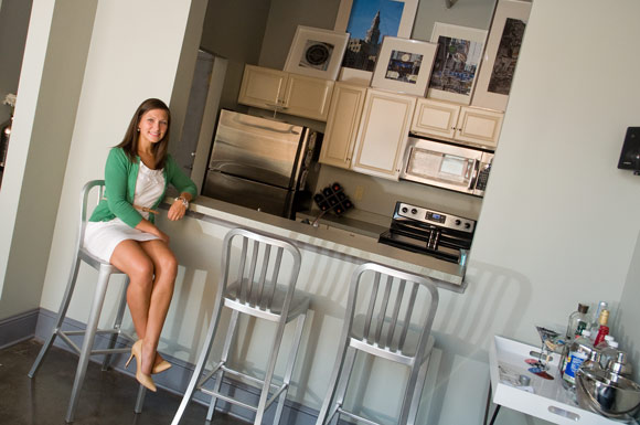 Allison Taller in her E 4th St Apartment - Photo Bob Perkoski
