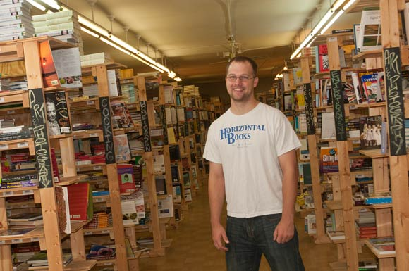 David Kallevig, co-owner of Horizontal Books - Photo Bob Perkoski