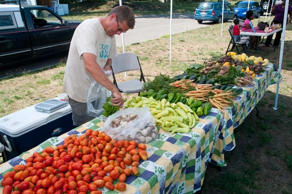 Cleveland Crops at the The Gateway 105 Farmers Market
