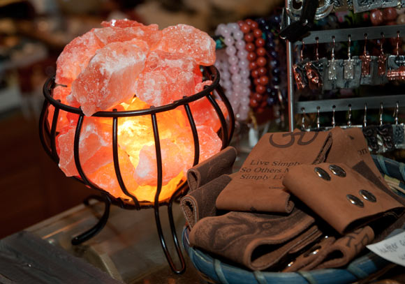 Himalayan salt lamp from Passport to Peru in Coventry Village