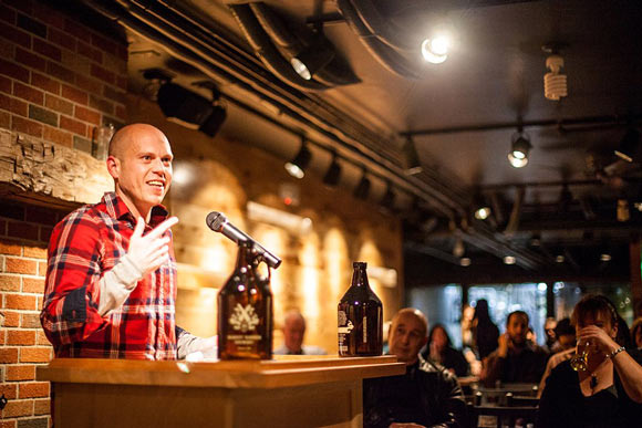 Market Garden Brewery Reading Series -  Richey Piiparinen of Rust Belt Chic, November 13, 2012  - Photo by Carissa Russell