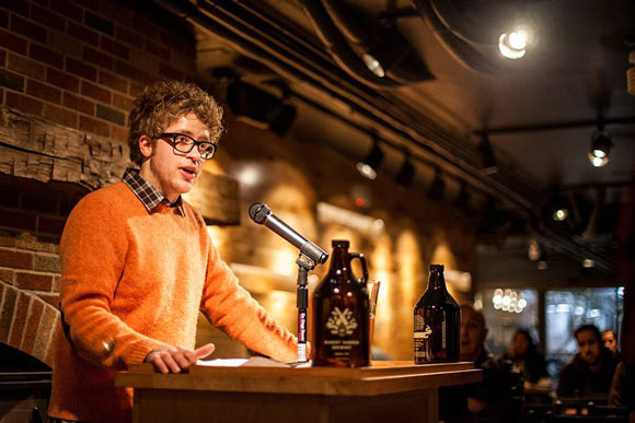Co-Founder/Co-Director of the Market Garden Brewery Reading Series - Photo by Carissa Russell
