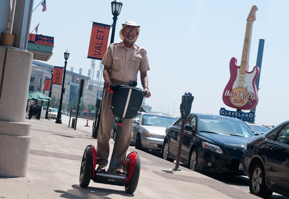 Karl Johnson of Segway Tours - Photo Bob Perkoski