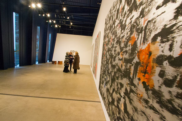 Inside Out and From the Ground Up, the inaugural exhibition at MOCA Cleveland's new building - Photo Bob Perkoski