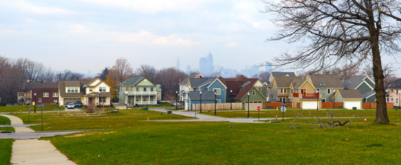 View of Cleveland from the Buckeye-Shaker Neighborhood