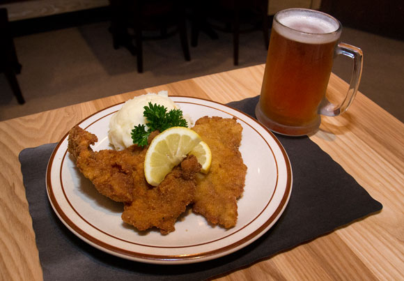 Weinerschnitzel at Sterle's Country House