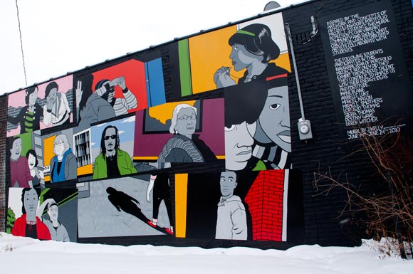 Mural behind Artrs Collinwood by J Kelly