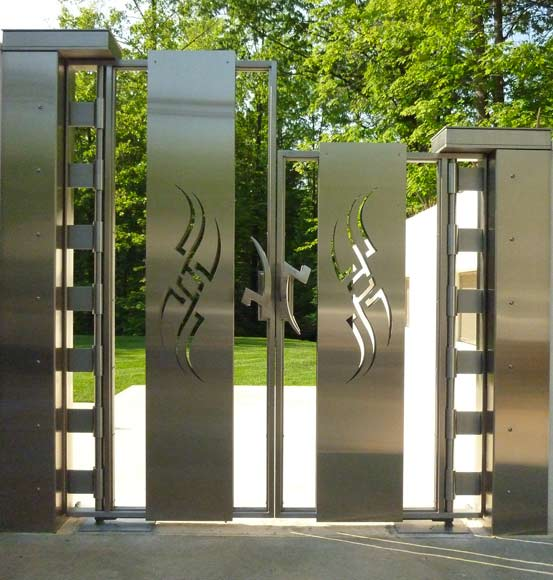 Diy modern gate designs wood and steel plans free for Modern main gate designs