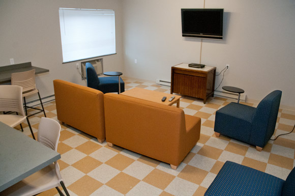 Student lounge in the Euclid-115 building