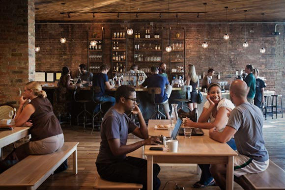 Coffee shops (like Detroit�s Great Lakes Coffee) are now places for entrepreneurs to work and network