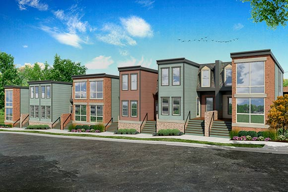Cincinnati's The Uptown Consortium, Inc. helped develop eight market-rate townhomes in the medical district