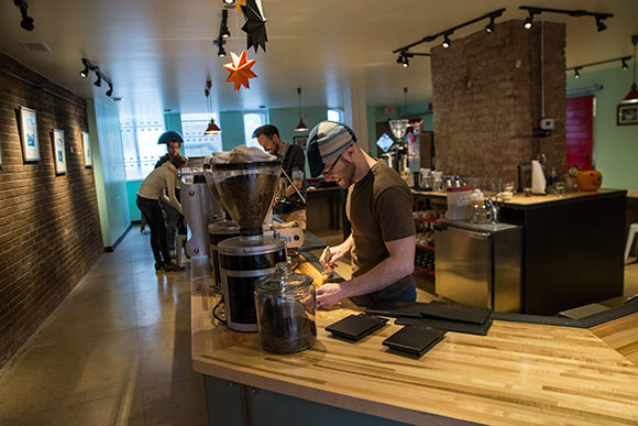 Rising Star Coffee Roasters east side location in Little Italy