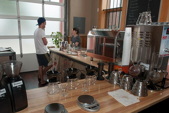 Rising Star Coffee Roasters west side location in Hingetown