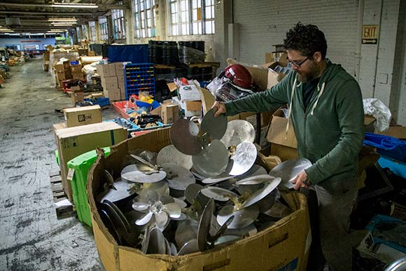 Cleveland artist Dana Depew finding inspiration at HGR Industrial Surplus
