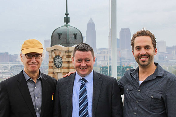 Zev Siegl, Mark Owens of Skylight Financial and Sam McNulty of Market Garden Brewery