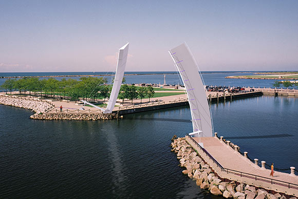 Lakefront Pedestrian Drawbridge