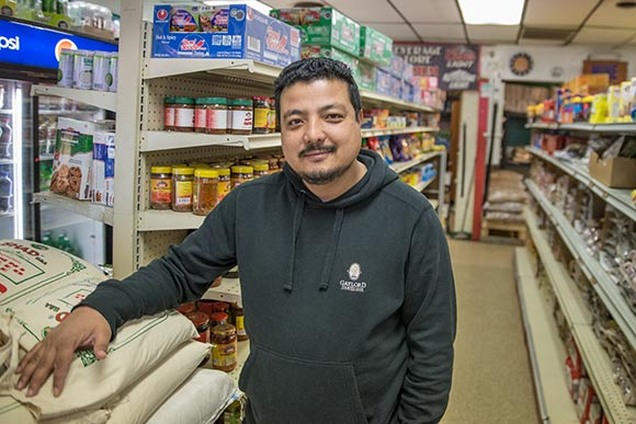 Nar Pradhan owner of South Asian Grocery