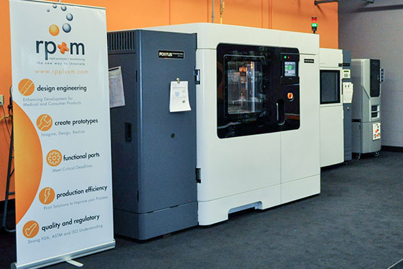 3-D printers at rp+m - Rapid Prototype + Manufacturing