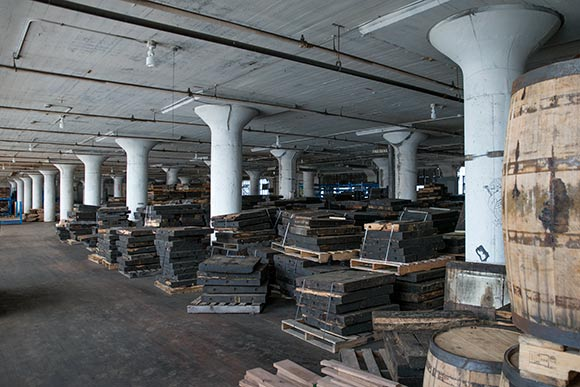 Old wooden flooring from a local car manufactuing facility