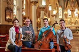 Ioana Missits, Jesse McCormick, David Alan Harrell and Yun-Ting Lee at Our Lady of Lourdes Church