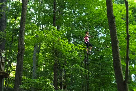 Go Ape treetop and zipline course, Mill Stream Run Reservation
