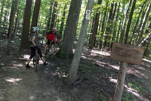 Dave Walker and Tracy Evans Walker - Singletrack Mountain Bike Trail, Bedford Reservation