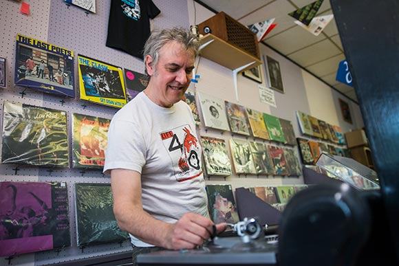 Pete Gulyas, owner and founder of Blue Arrow Records and Boutique
