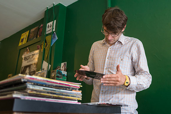 Steve Peffer of Hausfrau Record Shop