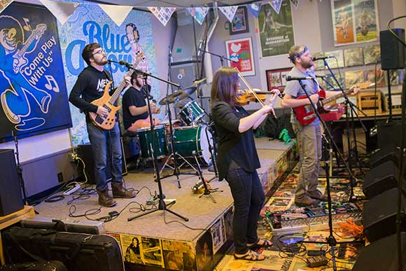 Lowly, The Tree Ghost perform at Blue Arrow Records
