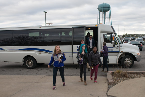 CWRU students arrive at the The Lorain Correctional Institution for the course