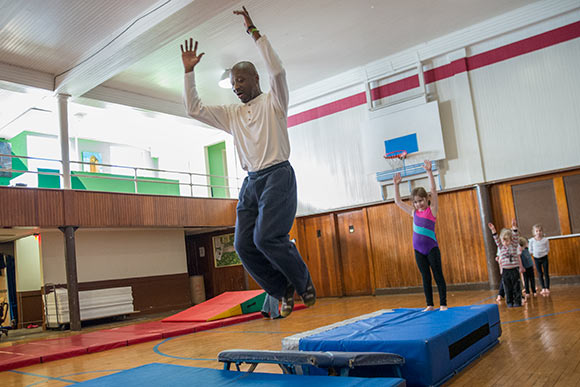 Todd Kennedy's tumbling class at Franklin Circle Christian Church