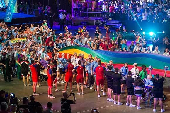 Gay Games 9 opening ceremony in Cleveland