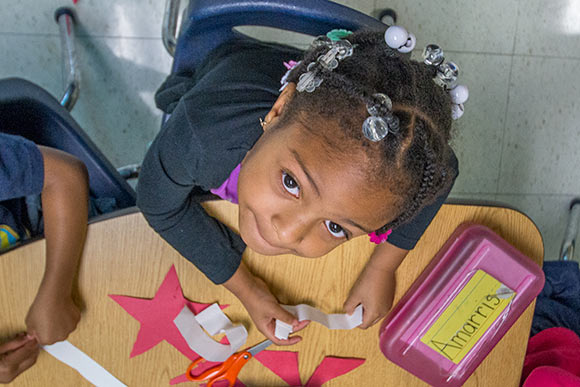 St. Augustine Child Enrichment Center student in the Pre4CLE program