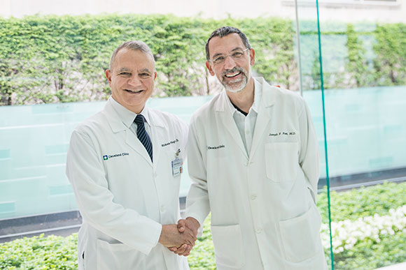 Mohamed Naguib, MD and Joseph Foss, MD of the Clinic's NeuroTherapia�s research