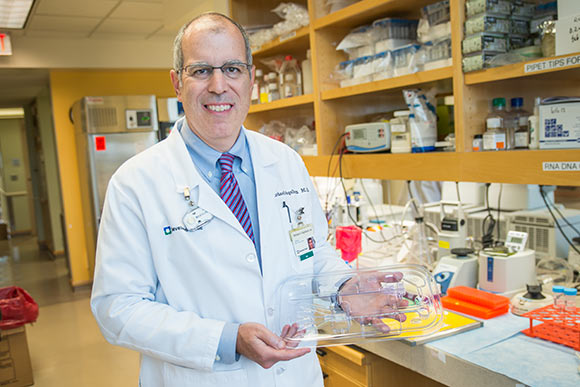 Michael Vogelbaum, associate director of the Cleveland Clinic�s Brain Tumor and Neuro-Oncology Cente with the CMC