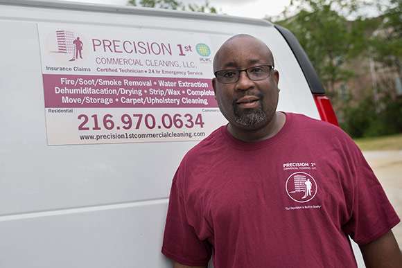 Ameer Washington owner of  Precision 1st Commercial Cleaning