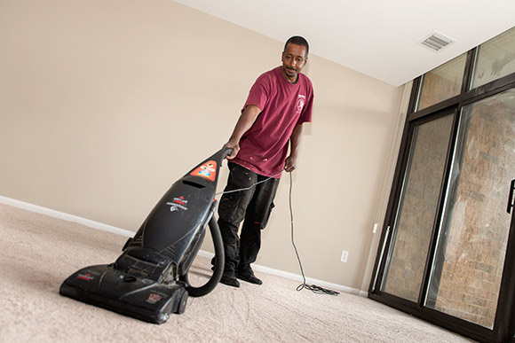 Precision 1st Commercial Cleaning employee Marvin Rembert
