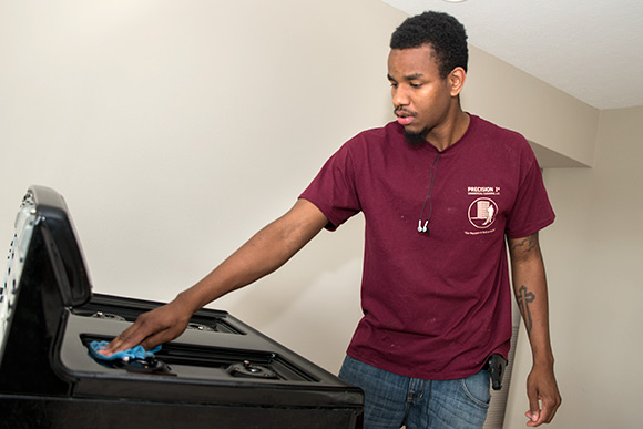Precision 1st Commercial Cleaning employee Ameer Washington