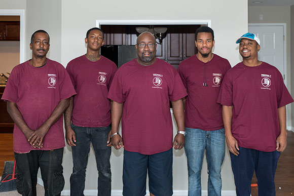 Precision 1st crew L-R Marvin and Marcus Rembert Ameer Washington and his son Ameer and Marcus Lewis