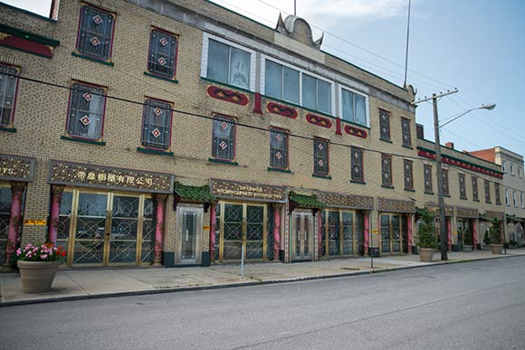 The historic remnant of Cleveland's Chinatown on Rockwell Avenue
