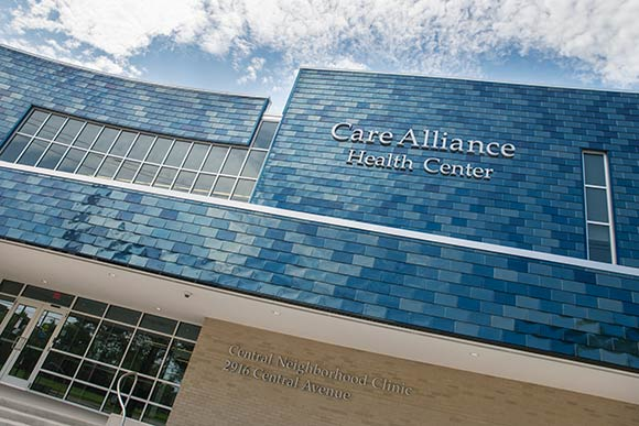 The new Care Alliance Health Center on Central Ave