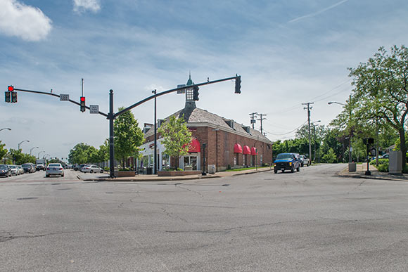 The commercial corridor at Lee and Chagrin