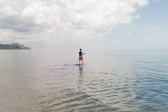 Standup paddleboarding at Edgewater