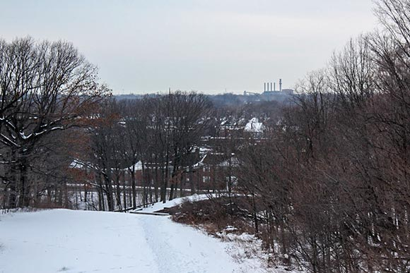 A view from the site where John D. Rockefeller's home was built in Forest Hill Park