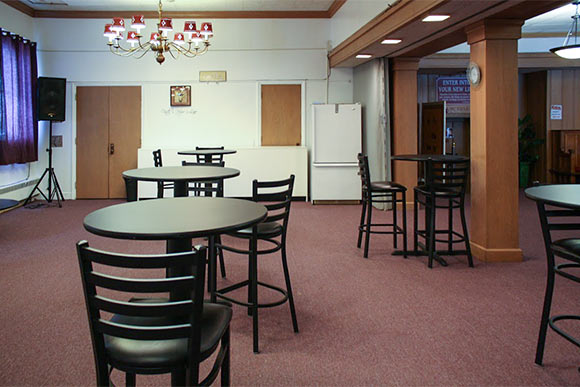 A cafe area in New Life Cathedral where seniors from the former Helen S. Brown Center will eat and gather