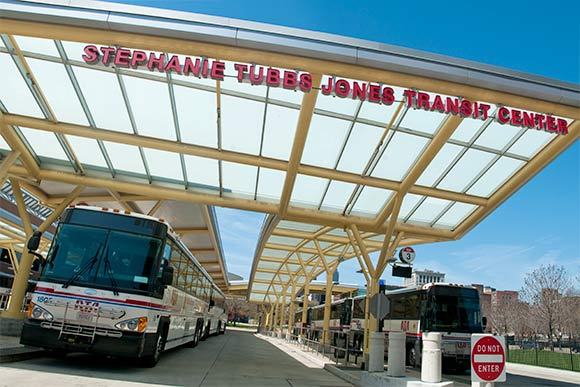 Stephanie Tubbs Jones Transit Center on the 55 bus route
