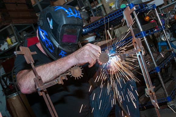 Year-round they offer welding classes, bead making, glass tile design and wind chime construction.
