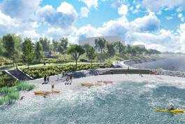 Breakwaters will be used as an erosion control measure along the waterfront trail